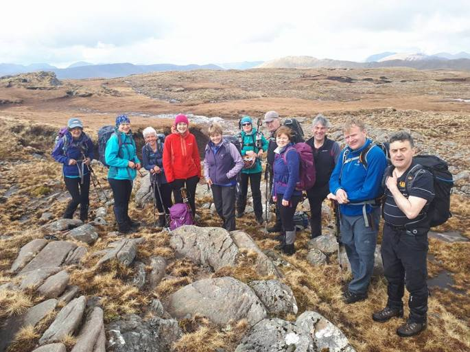 Members of Tralee Mountaineering Club (TMC) in Connemara