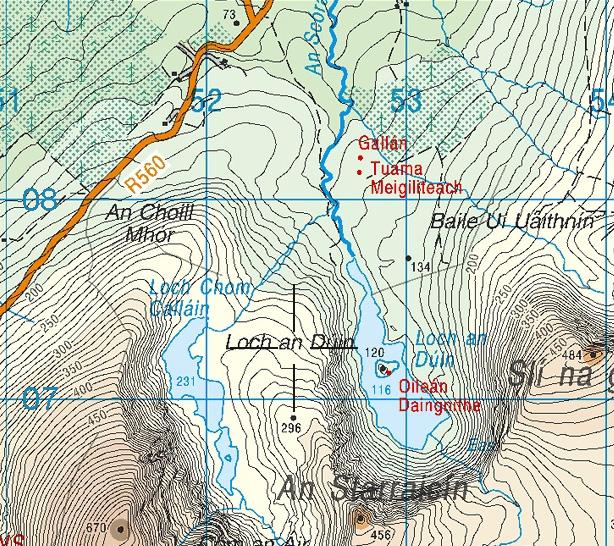 Loch A Duin Contours