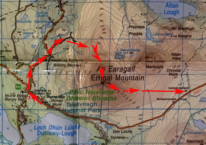 Errigal NW Route